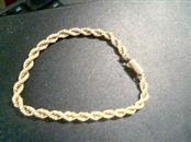 Gold Rope Bracelet 10K Yellow Gold 10g